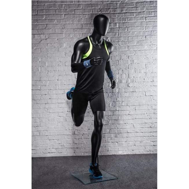 Athletic Black Male Running Mannequin MM-PB5BK2