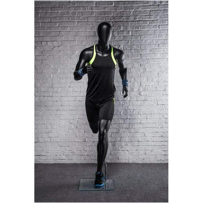 Mannequin Mall Athletic Black Male Running Mannequin MM-PB5BK2 For Fashion Stores and Retail Shops