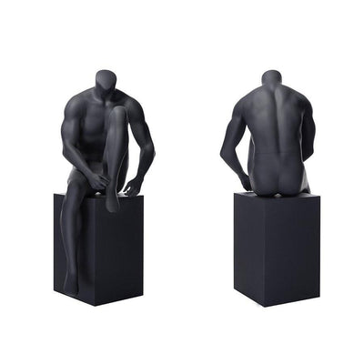 Mannequin Mall Athletic Headless Male Sitting Mannequin MM-NI5 For Fashion Stores and Retail Shops