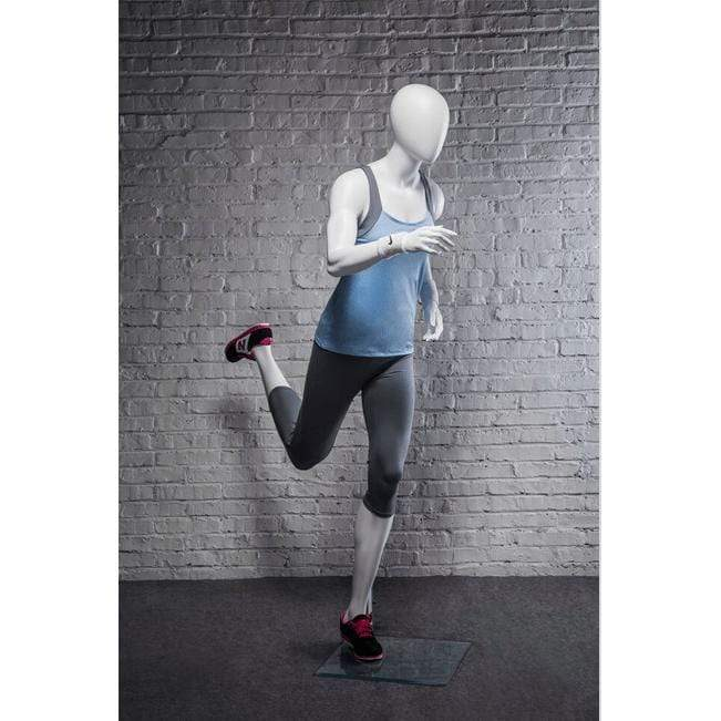 Athletic White Female Running Mannequin MM-PB4W2