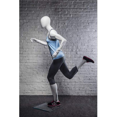 Mannequin Mall Athletic White Female Running Mannequin MM-PB4W2 For Fashion Stores and Retail Shops