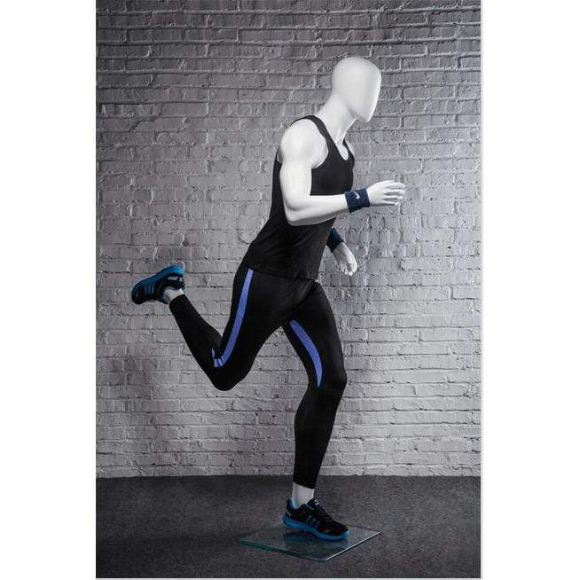 Athletic White Male Running Mannequin MM-PB5W2