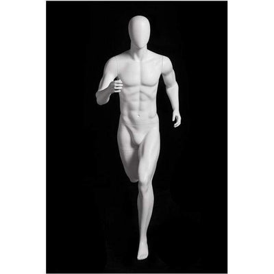 Mannequin Mall Athletic White Male Running Mannequin MM-PB5W2 For Fashion Stores and Retail Shops