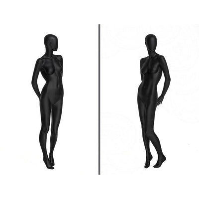 Mannequin Mall Black Female Abstract Mannequin MM-OZIB2 For Fashion Stores and Retail Shops