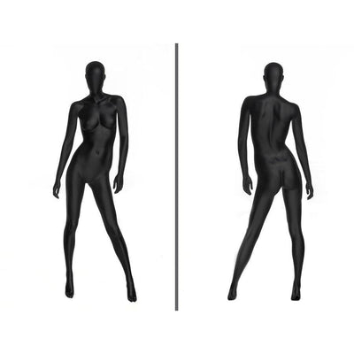 Mannequin Mall Black Female Abstract Mannequin MM-OZIB3 For Fashion Stores and Retail Shops