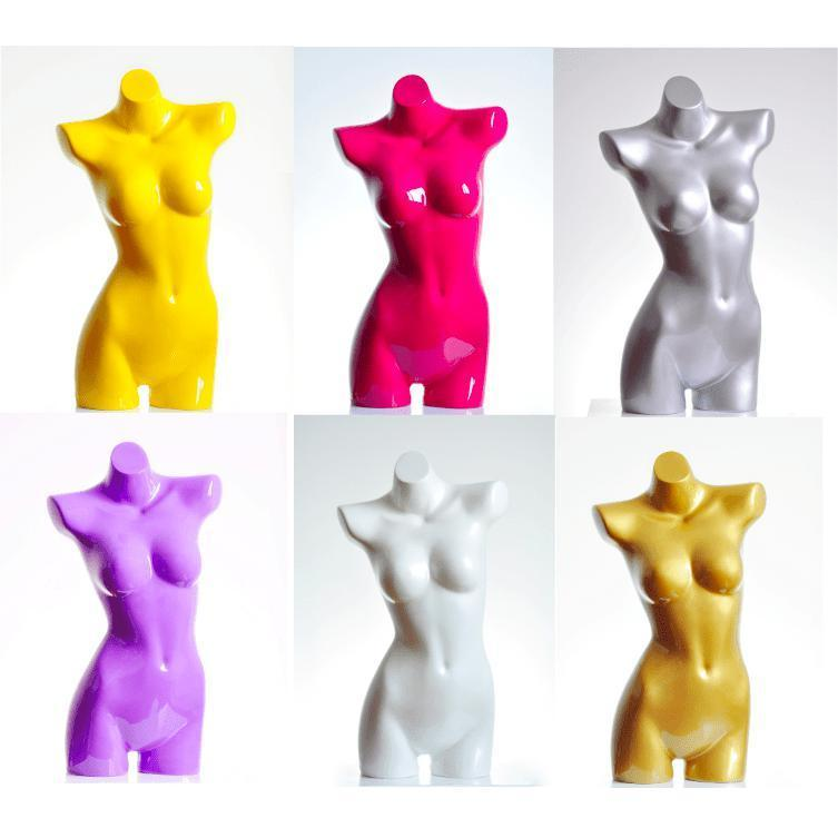 Mannequin Mall Colorful Fiberglass Female Mannequin Torso MM-MZBL2 For Fashion Stores and Retail Shops