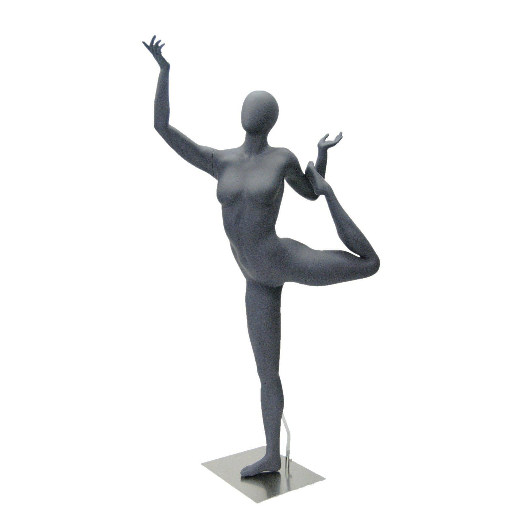 Mannequin Mall Female Abstract Athletic Sports Yoga Mannequin MM-HEF65EG For Fashion Stores and Retail Shops