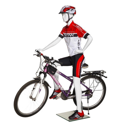 Mannequin Mall Female Abstract Cycling Mannequin MM-BY-F01 For Fashion Stores and Retail Shops