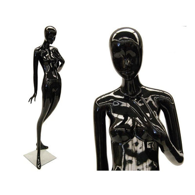 Mannequin Mall Female Black Abstract Mannequin MM-ONA1BK For Fashion Stores and Retail Shops