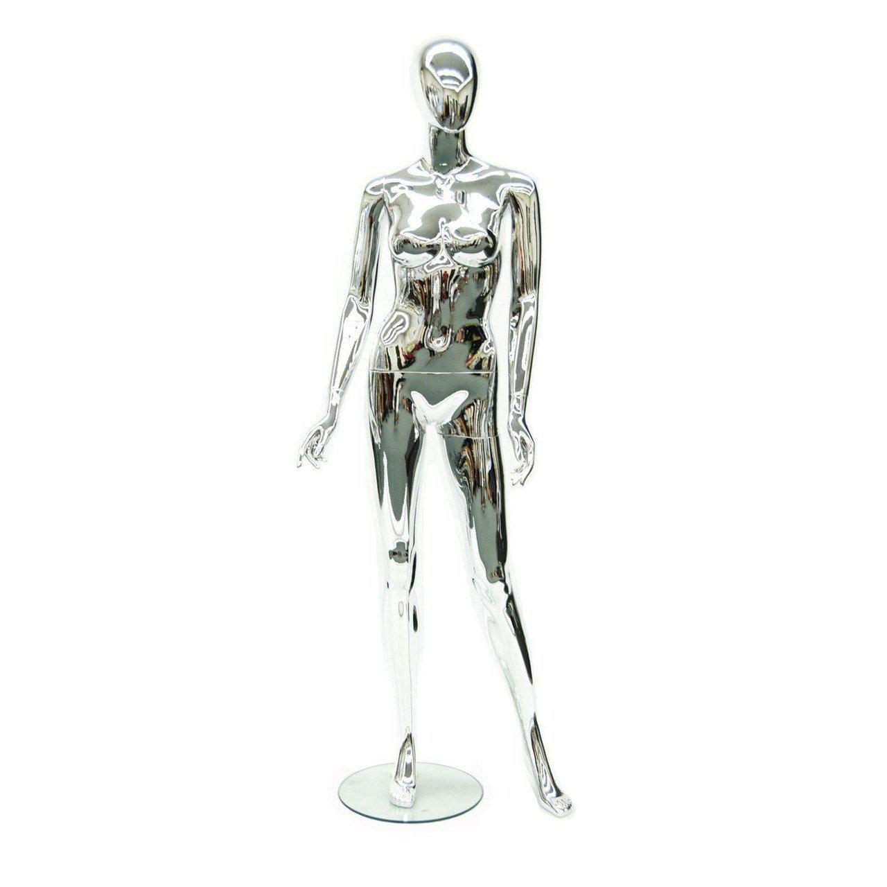 Mannequin Mall Female Chrome Mannequin MM-80155 For Fashion Stores and Retail Shops