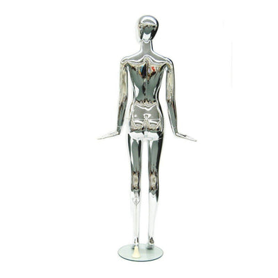 Mannequin Mall Female Chrome Mannequin MM-A11 For Fashion Stores and Retail Shops