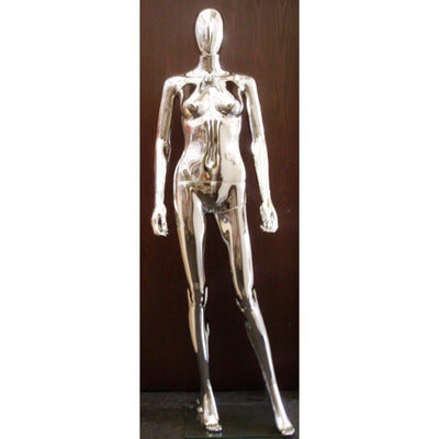 Mannequin Mall Female Chrome Mannequin MM-PS-SF1SCEG For Fashion Stores and Retail Shops