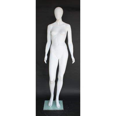 Mannequin Mall Female Egghead Mannequin MM-SFW52E-WT For Fashion Stores and Retail Shops