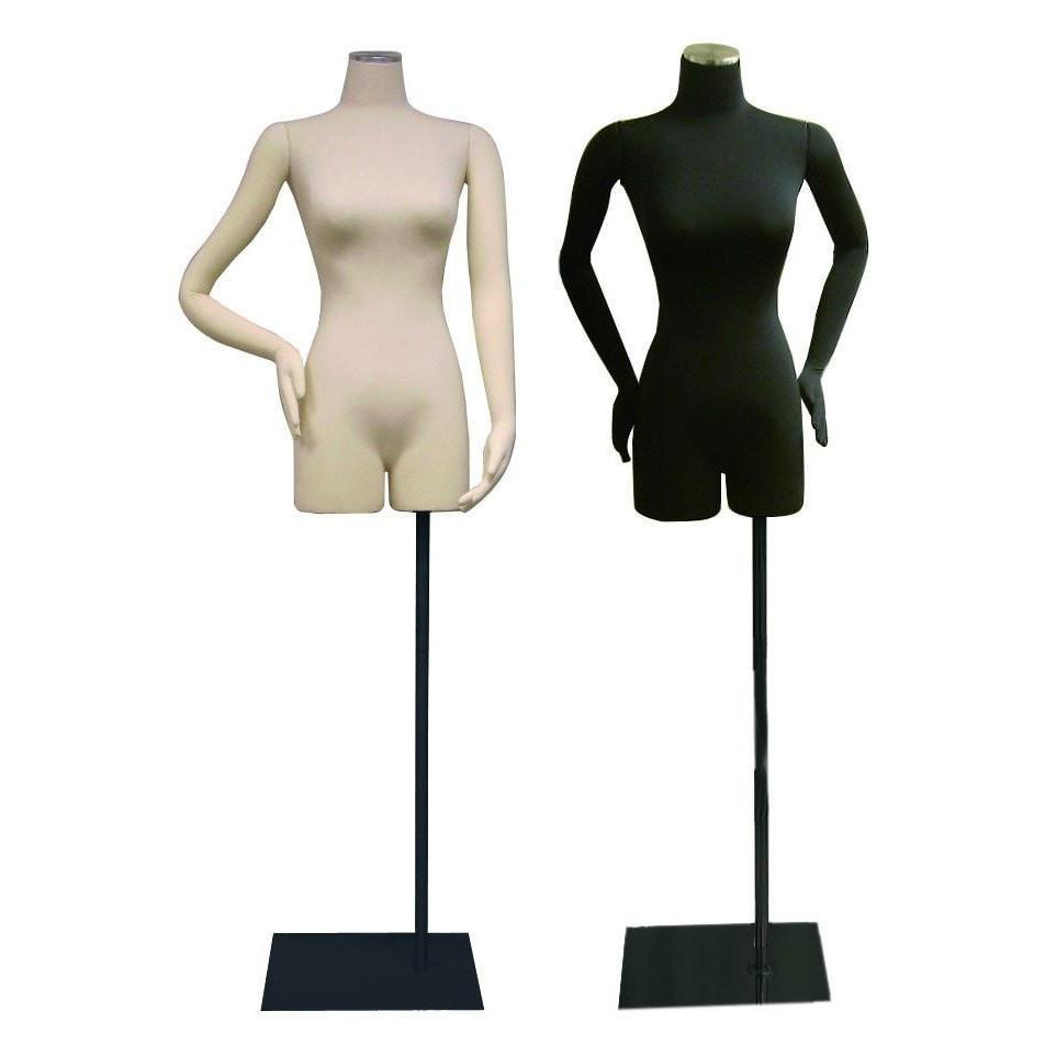Mannequin Mall Female Pinnable Dress Form with Movable Arms MM-ARMBS05 For Fashion Stores and Retail Shops