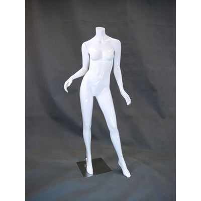 Mannequin Mall Glossy Headless Female Mannequin MM-RA2BW1 For Fashion Stores and Retail Shops