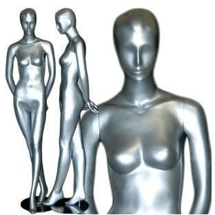 Mannequin Mall Gray Abstract Female Mannequin MM-047 For Fashion Stores and Retail Shops