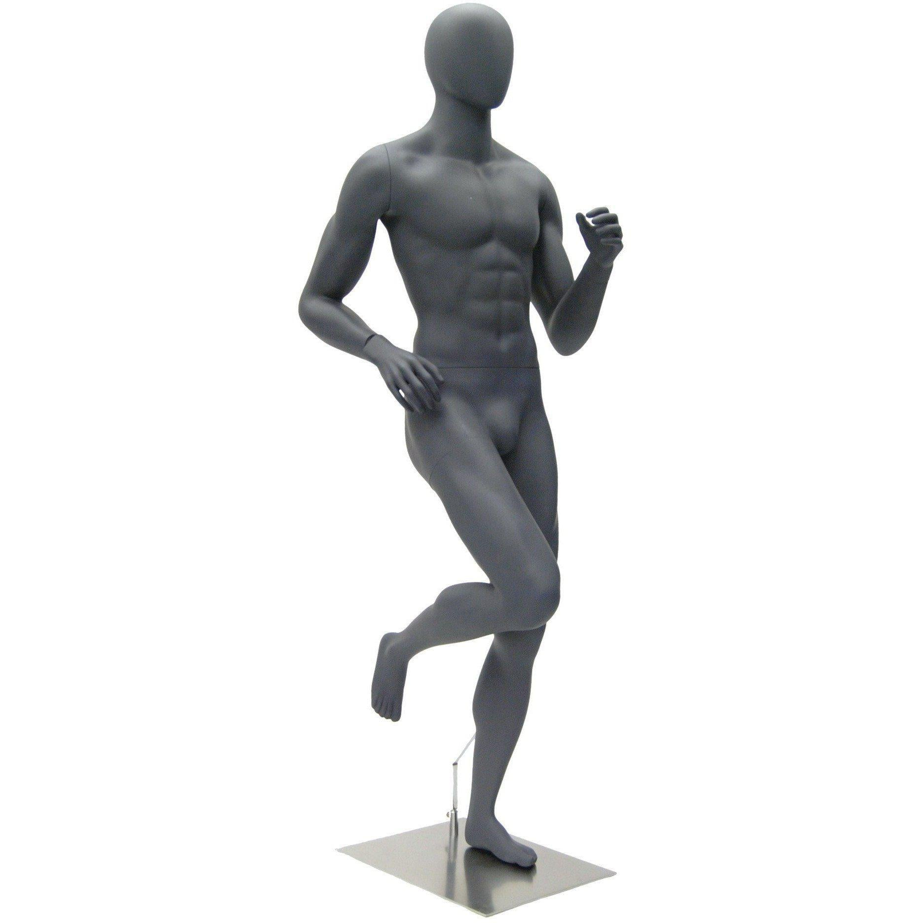 Mannequin Mall Male Abstract Athletic Running Mannequin MM-HEF63EG For Fashion Stores and Retail Shops