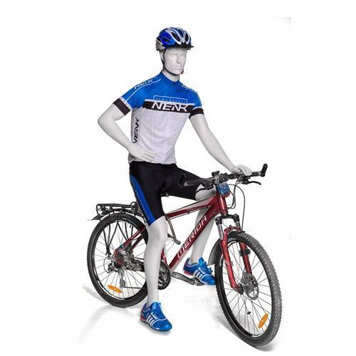 Mannequin Mall Male Abstract Cycling Mannequin MM-BY-M01 For Fashion Stores and Retail Shops