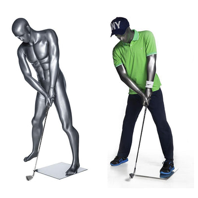 Mannequin Mall Male Abstract Golf Mannequin MM-GOLF02 For Fashion Stores and Retail Shops