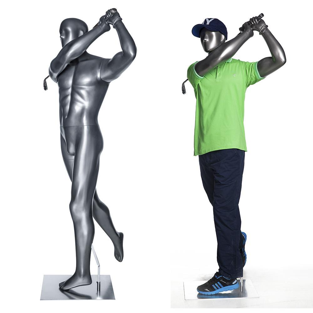 Mannequin Mall Male Abstract Golf Mannequin MM-GOLF04 For Fashion Stores and Retail Shops