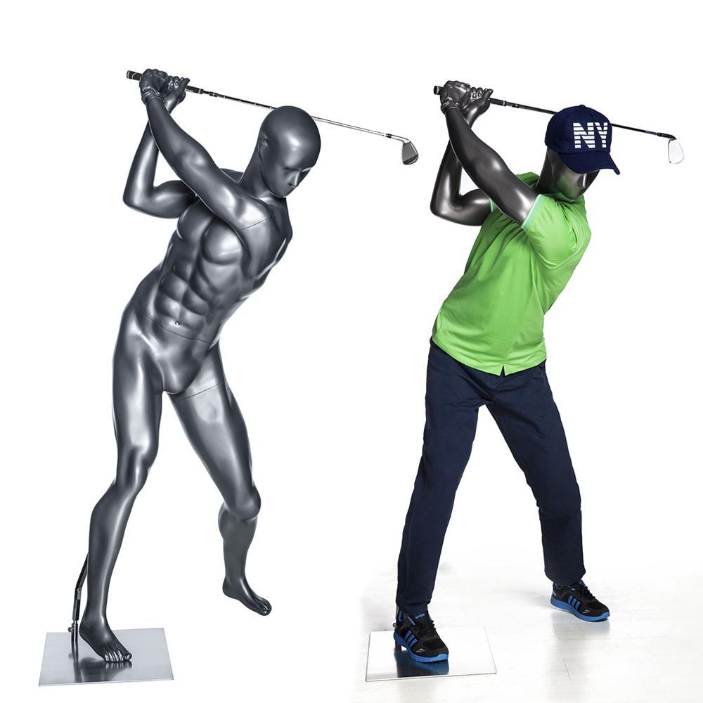Mannequin Mall Male Abstract Golfer Mannequin MM-GOLF01 For Fashion Stores and Retail Shops