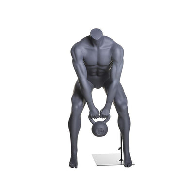 Mannequin Mall Male Athletic Kettlebell Weight Lifting Mannequin MM-HL-02 For Fashion Stores and Retail Shops