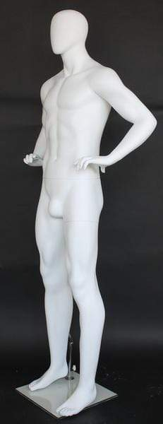 Mannequin Mall Male Egghead Mannequin MM-SFM62E-WT For Fashion Stores and Retail Shops