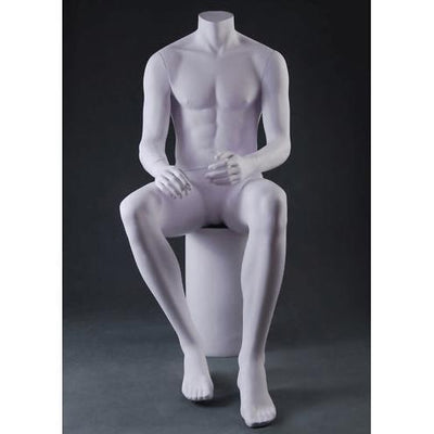 Mannequin Mall Male Headless Sitting Mannequin MFS-PZM3 For Fashion Stores and Retail Shops