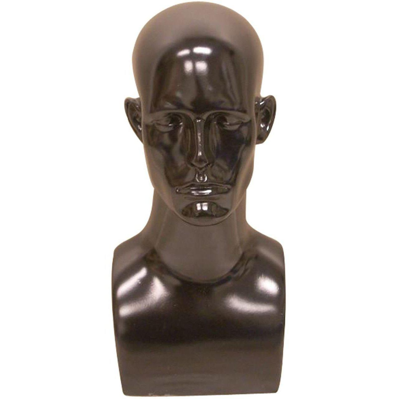 Mannequin Mall Male Mannequin Head MM-MDERABLACK For Fashion Stores and Retail Shops