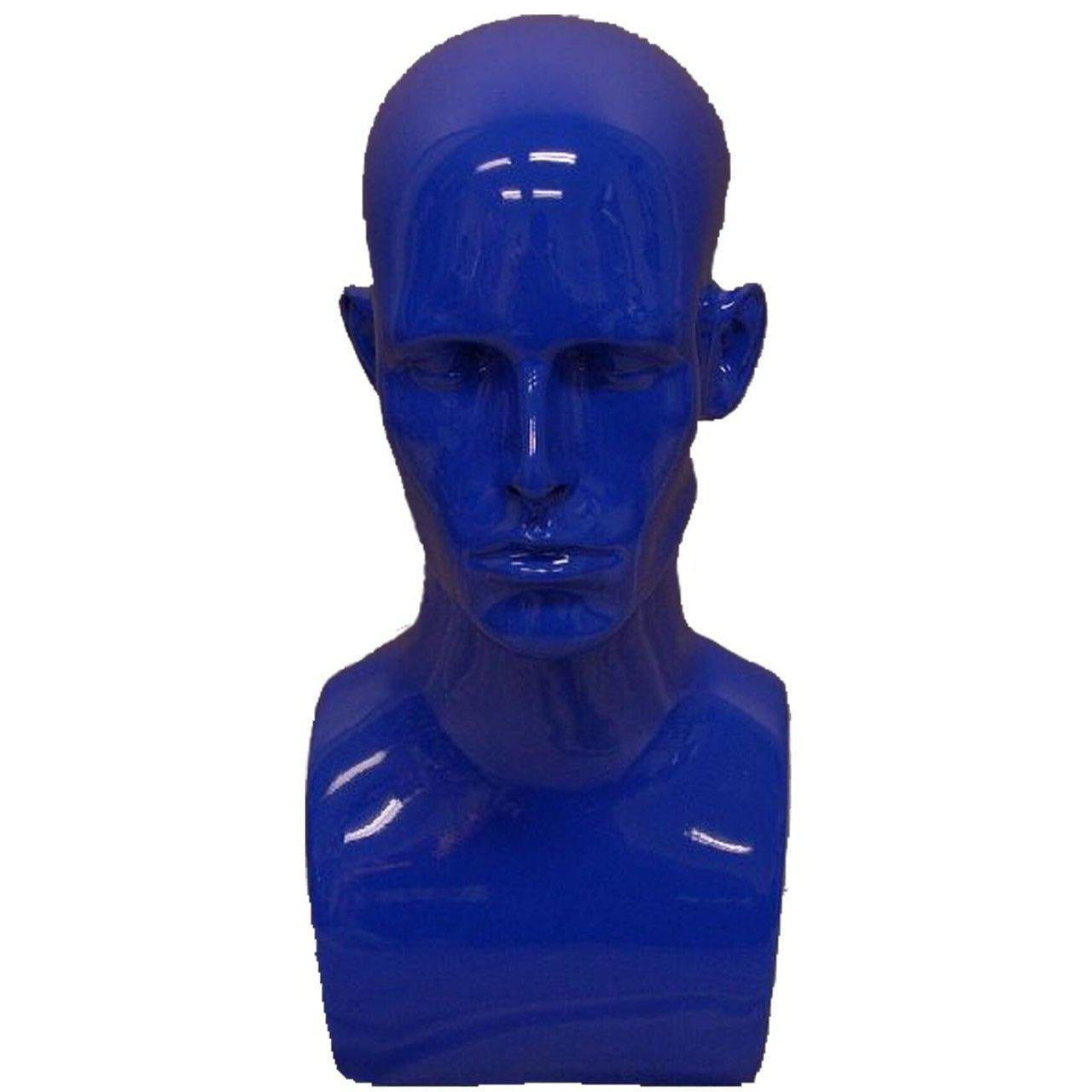 Mannequin Mall Male Mannequin Head MM-MDERABLUE For Fashion Stores and Retail Shops