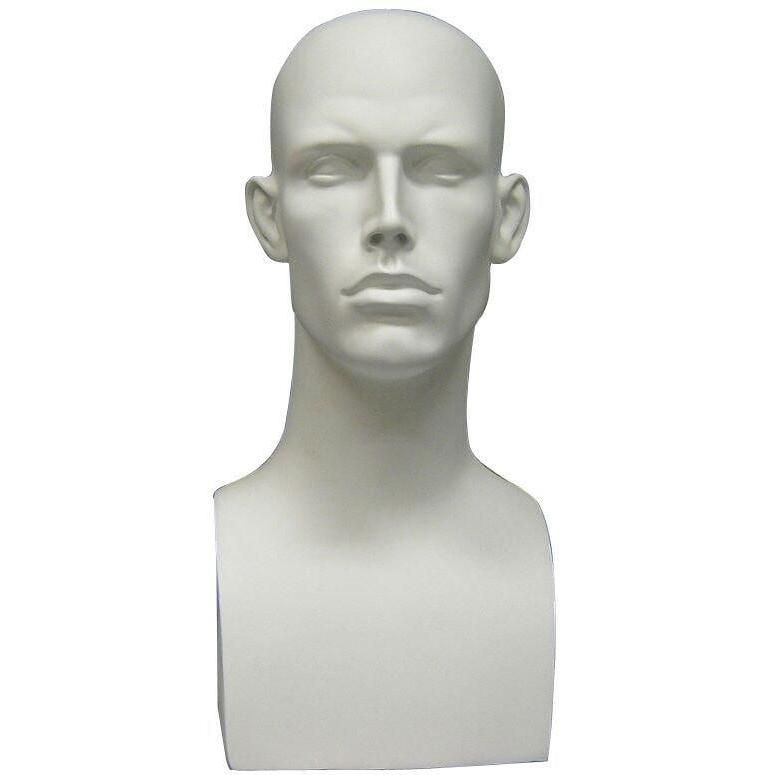 Mannequin Mall Male Mannequin Head MM-MDERAW2 For Fashion Stores and Retail Shops