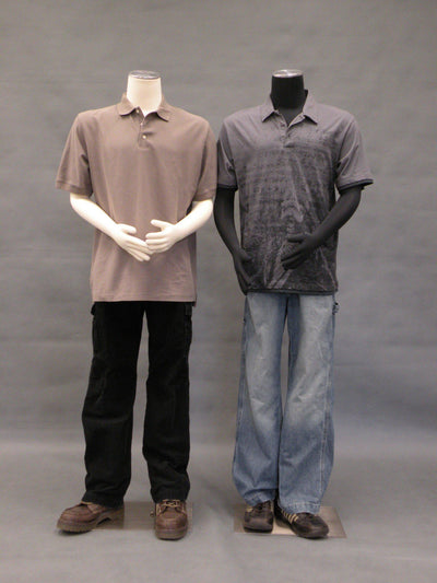 Mannequin Mall Male Pinnable Dress Form with Movable Arms MM-MARMBS05 For Fashion Stores and Retail Shops