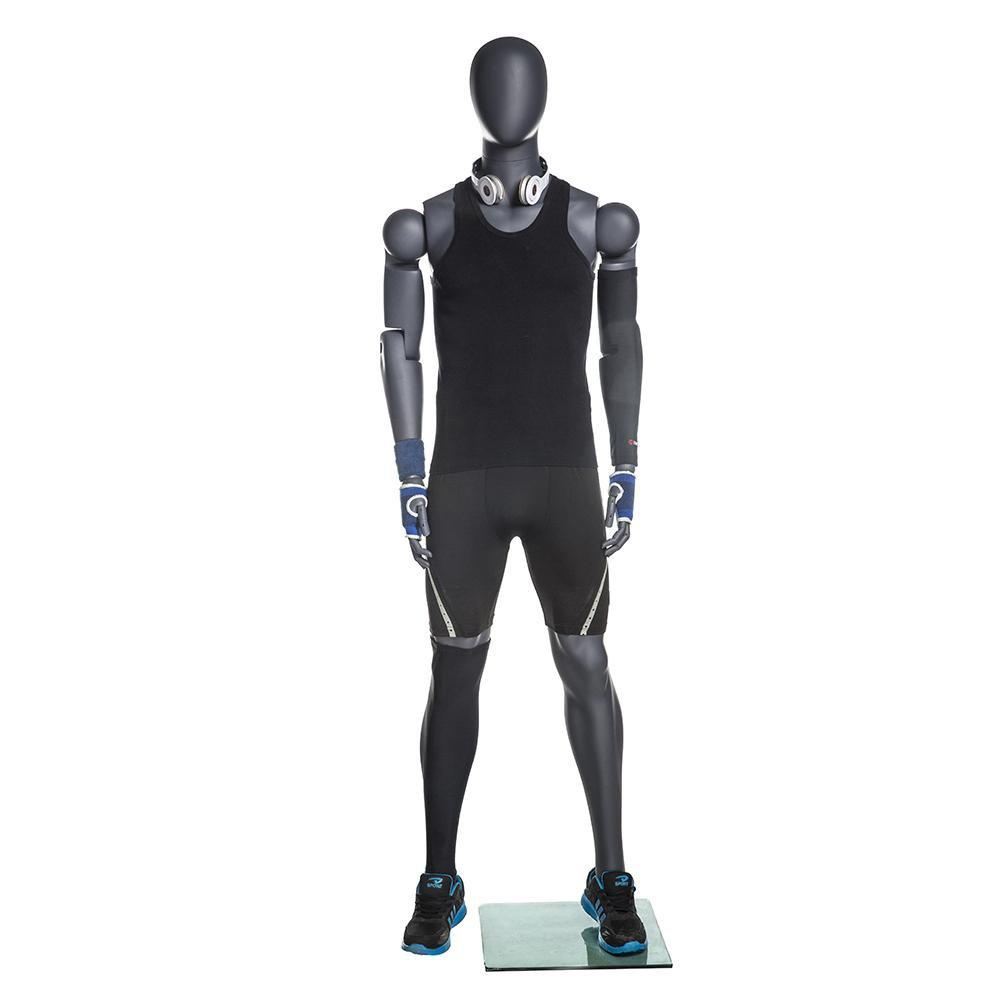 Mannequin Mall Male Posable Athletic Mannequin MM-NI-MFXG For Fashion Stores and Retail Shops