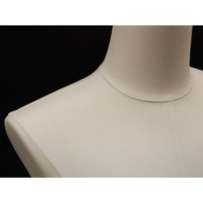 Mannequin Mall Male Pure White Linen Dress Form MM-JM1WL For Fashion Stores and Retail Shops