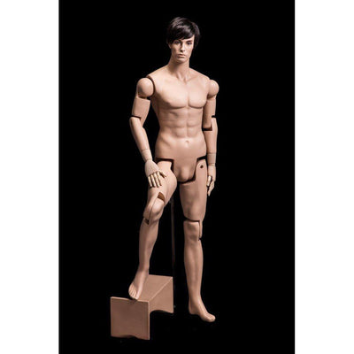 Mannequin Mall Male Realistic Posable Mannequin with Back Support MM-HM01 For Fashion Stores and Retail Shops