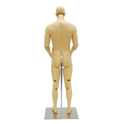 Mannequin Mall Male Realistic Posable Mannequin with Back Support MM-HM02 For Fashion Stores and Retail Shops