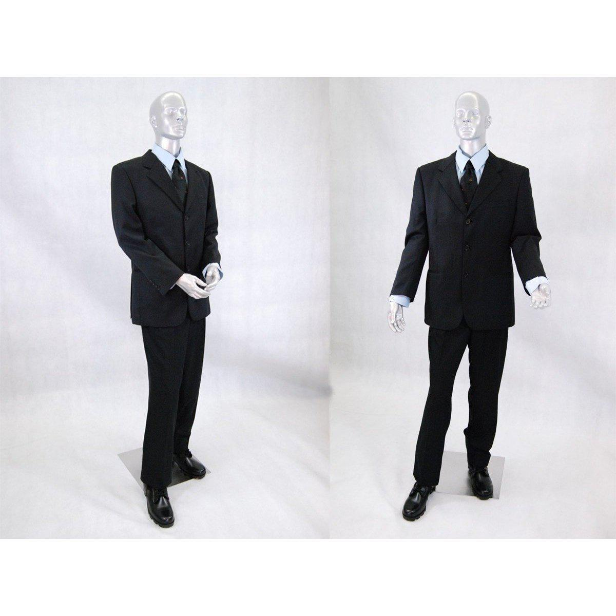 Mannequin Mall Male Silver Mannequin with Movable Elbows MM-HMB2SL For Fashion Stores and Retail Shops