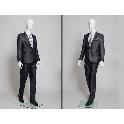 Mannequin Mall Male White Abstract Mannequin MM-JOE1 For Fashion Stores and Retail Shops