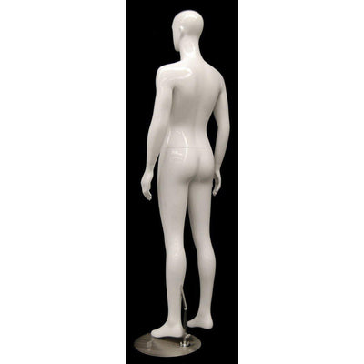 Mannequin Mall Male White Abstract Mannequin MM-XDM02 For Fashion Stores and Retail Shops