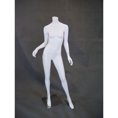 Mannequin Mall Matte Headless Female Mannequin MM-RA2BW1 For Fashion Stores and Retail Shops