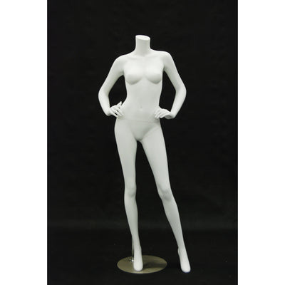 Mannequin Mall Matte Headless Female Mannequin MM-RA4BW1 For Fashion Stores and Retail Shops