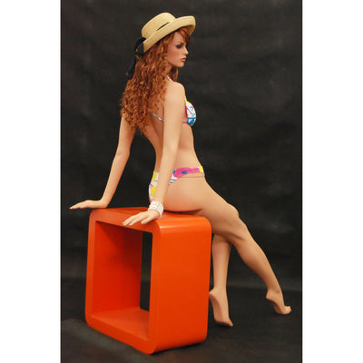 Mannequin Mall Realistic Female Sitting Mannequin MM-FR6 For Fashion Stores and Retail Shops