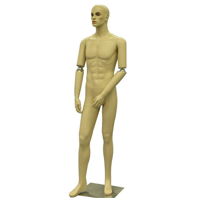 Mannequin Mall Realistic Male Mannequin with Movable Elbows MM-HMB2F For Fashion Stores and Retail Shops