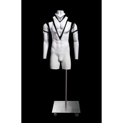 Mannequin Mall Ultimate Invisible Ghost Male Mannequin 3/4 Torso MM-GH3-4M For Fashion Stores and Retail Shops