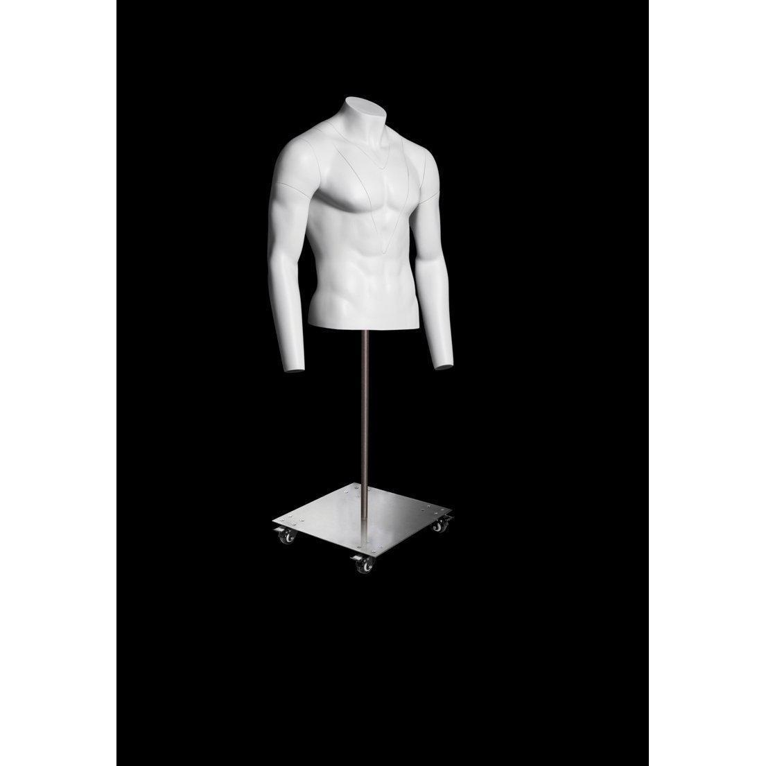 Only Hangers Female Torso Body Mannequin Form Waist Long Great for Small and Medium Sizes White Finish