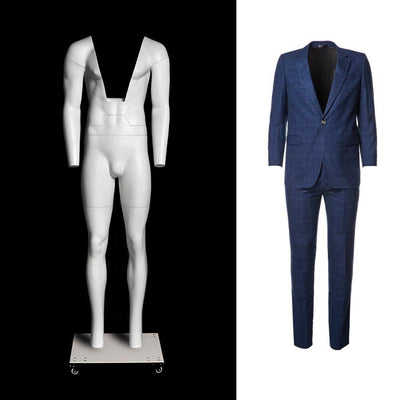 Mannequin Mall Ultimate Male Invisible Ghost Mannequin Full Body Version 3.0 MM-GHT-M For Fashion Stores and Retail Shops