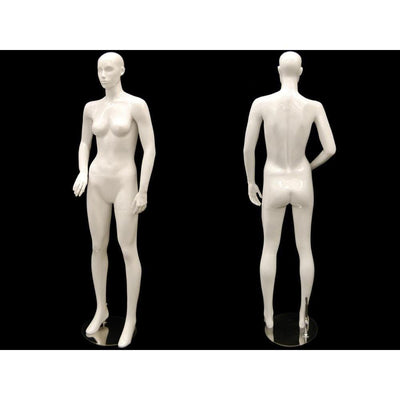 Mannequin Mall White Abstract Female Mannequin MM-ANNA01 For Fashion Stores and Retail Shops