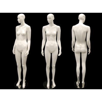 Mannequin Mall White Abstract Female Mannequin MM-ANNA02 For Fashion Stores and Retail Shops
