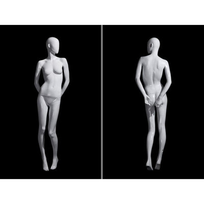 Mannequin Mall White Abstract Female Mannequin MM-OZIW2 For Fashion Stores and Retail Shops