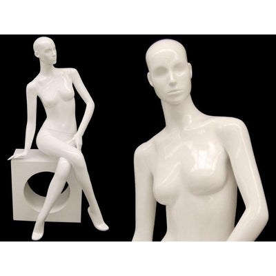 Mannequin Mall White Female Abstract Mannequin MM-ANNA06 For Fashion Stores and Retail Shops